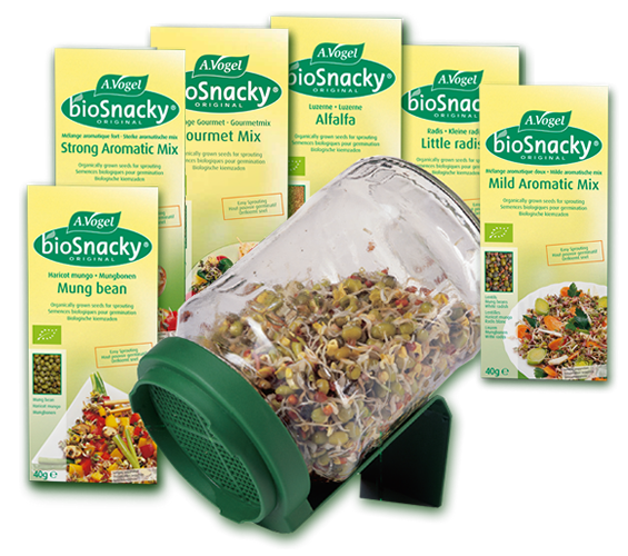 The BioSnacky Starter Kit Contains 6 Packs Of Our Most Popular Seeds And Glass Germinator Jar