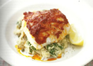 Cod with Pesto Topping and Butterbean Mash