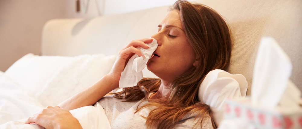 Experiencing hayfever symptoms at night and early morning