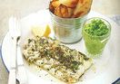 Healthy Fish and Chips with Mushy Peas