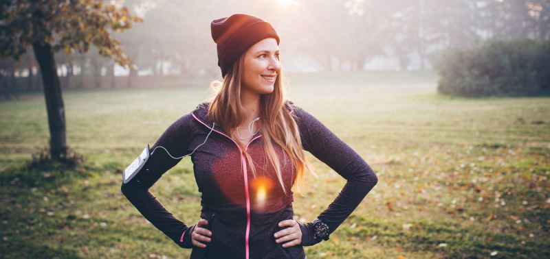Exercising outdoors to prevent colds and flu