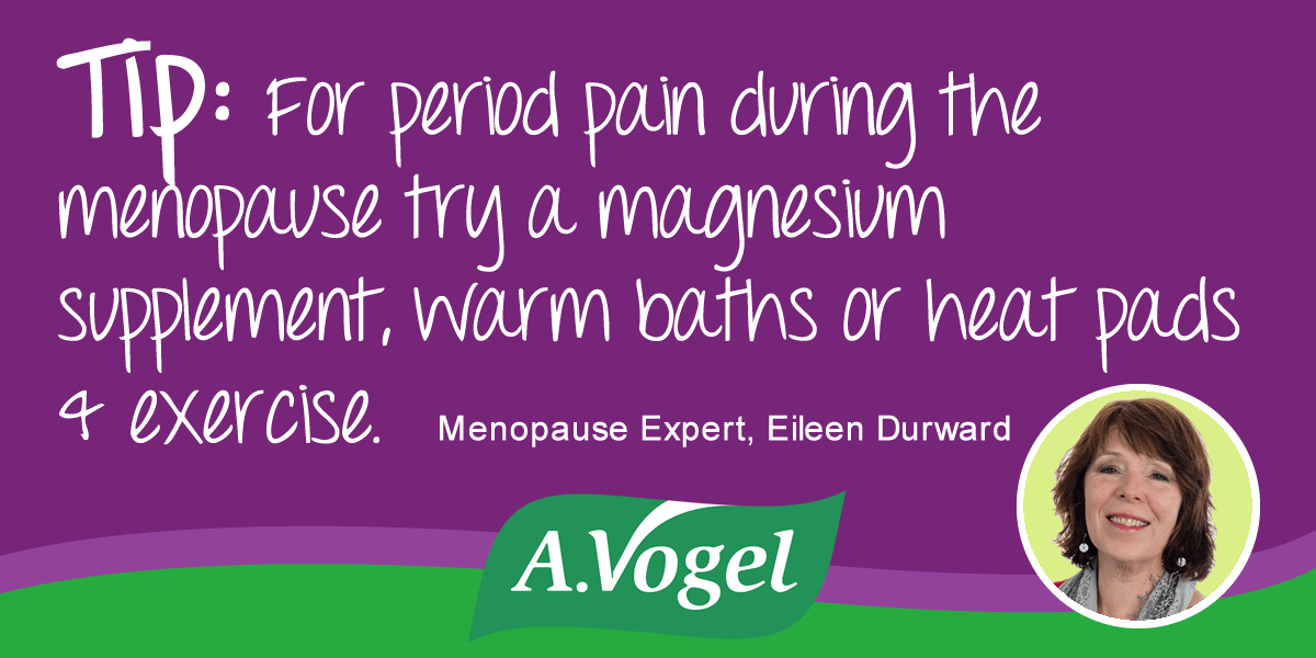 Menopause and Period pain - causes and solutions during the menopause