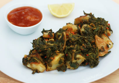 Spinach & Potato Curry (Saag aloo) Vegan & GF