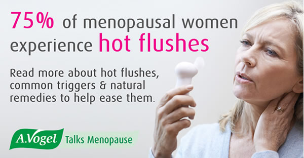 Hot flushes are a common symptom of the menopause - 75% of menopausal women experience them
