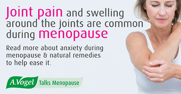 Joint pain and menopause – pain and swelling around the joints is common among menopausal women