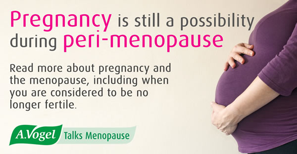 Pregnancy and menopause - No matter how irregular your periods may become, it is possible to conceive during peri-menopause