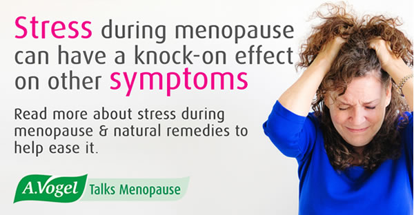 Stress and menopause – stress is a troublesome symptom which can have a knock-on of other menopause symptoms