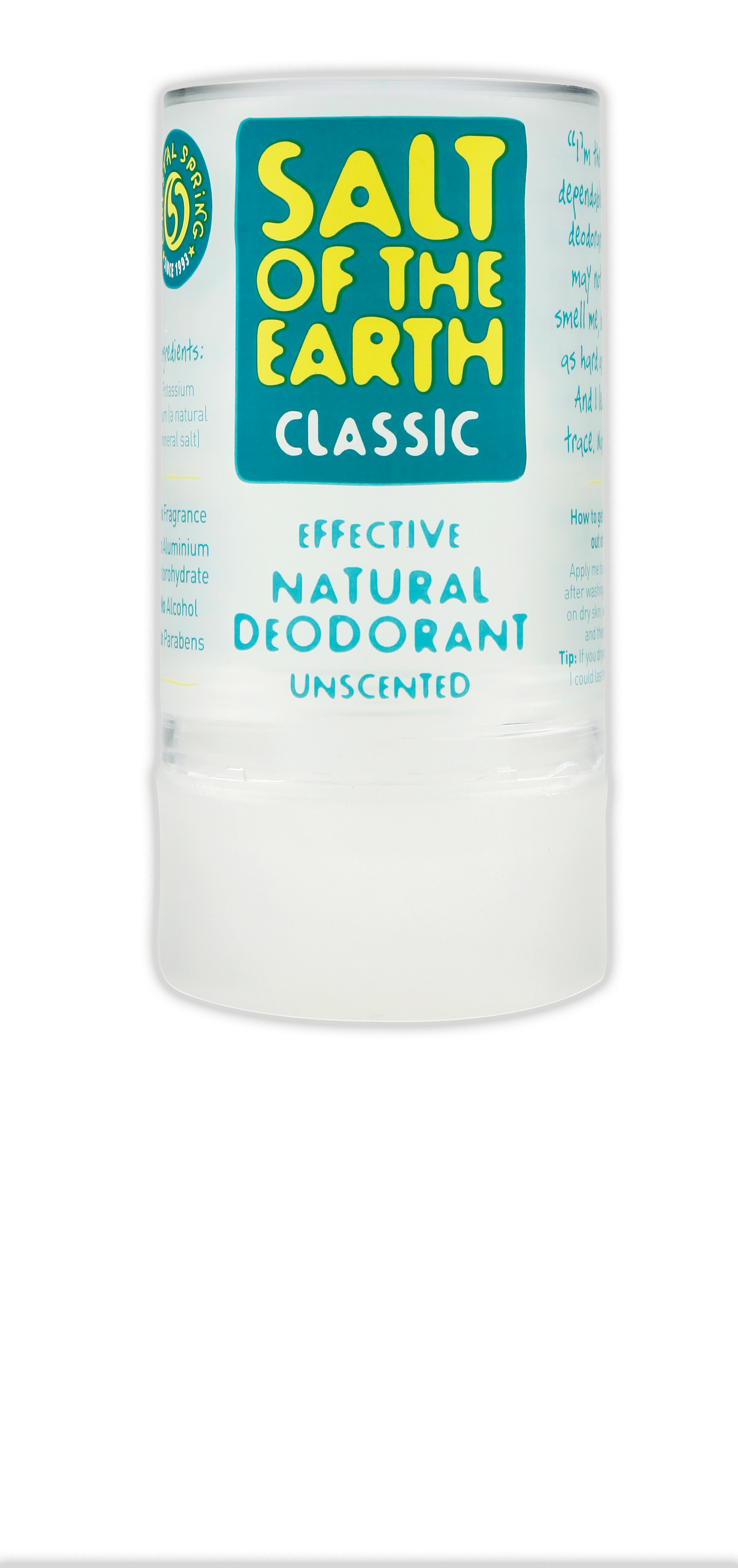 salt of the earth a natural unscented deodorant. Black Bedroom Furniture Sets. Home Design Ideas