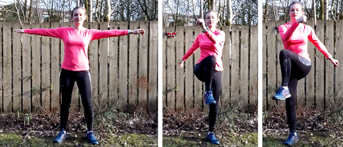 varicose veins exercise - knee raises